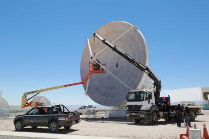ALMA 12m antenna under maintenance