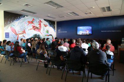 アルマ望遠鏡山麓施設の一般見学(映像室)