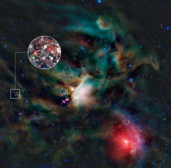 アルマ望遠鏡、赤ちゃん星のまわりに生命の構成要素を発見