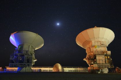 The Basis of Clear Skies: ALMA Antennas, Venus and the Milky Way