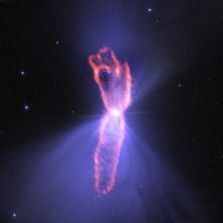 Composite image of the Boomerang Nebula