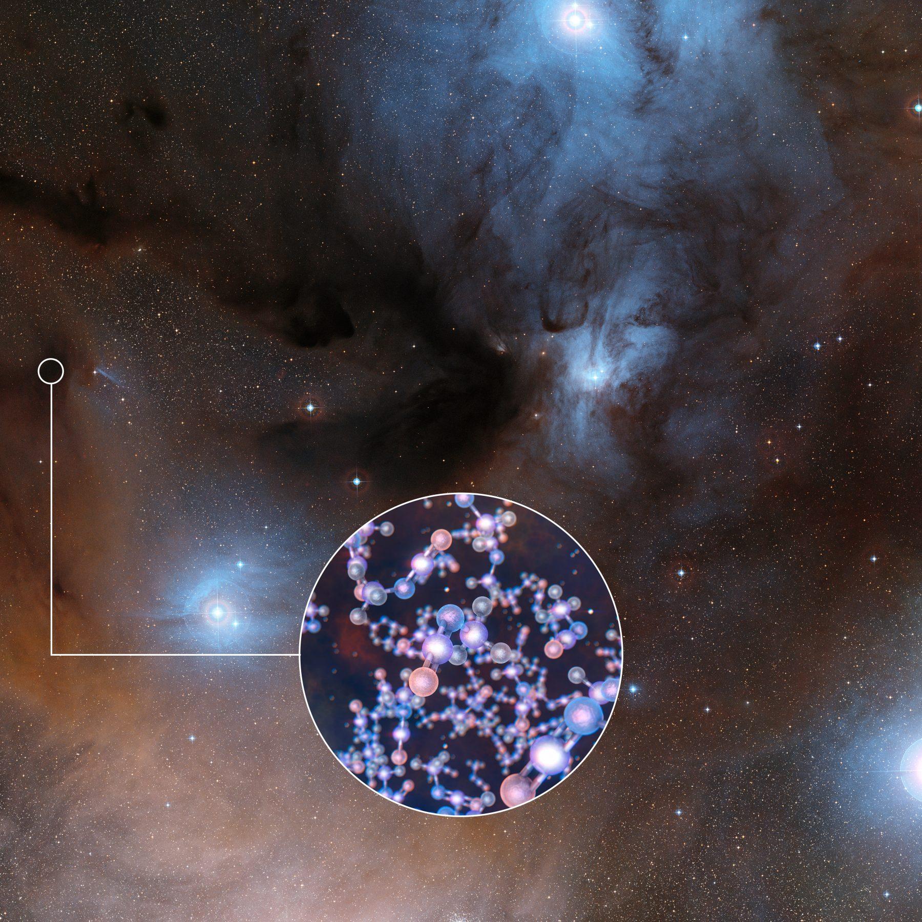 若い星のまわりでアミノ酸の材料を発見