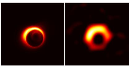 A simulated image of the supermassive black hole Sagittarius A*