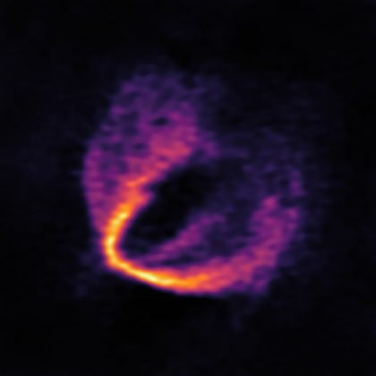 ALMA image of the gas disk around HD 163296