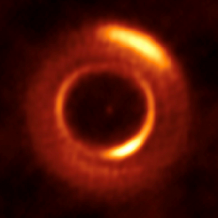 Dust disk around MWC 758