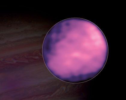アルマ望遠鏡が観測したエウロパの表面