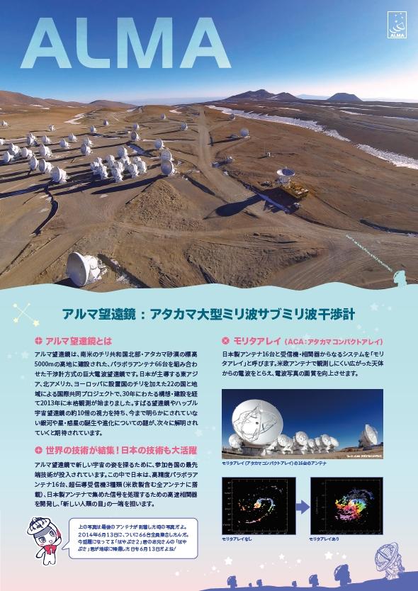 アルマ望遠鏡紹介ポスター