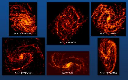 Six spiral galaxies with PHANGS-ALMA