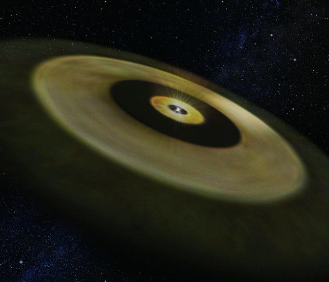 若い星おうし座DM星の想像図