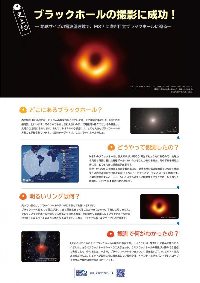 史上初!ブラックホールの撮影に成功!