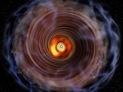 巨大原始星G353.273+0.641の想像図