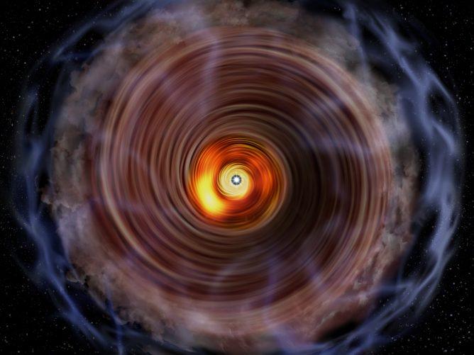 アルマ望遠鏡が初めて明らかにした、大質量原始星を取り巻くガス円盤の姿