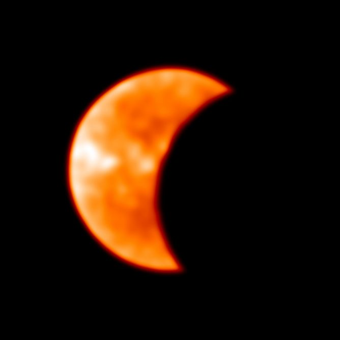 2019 Solar Eclipse Image from ALMA