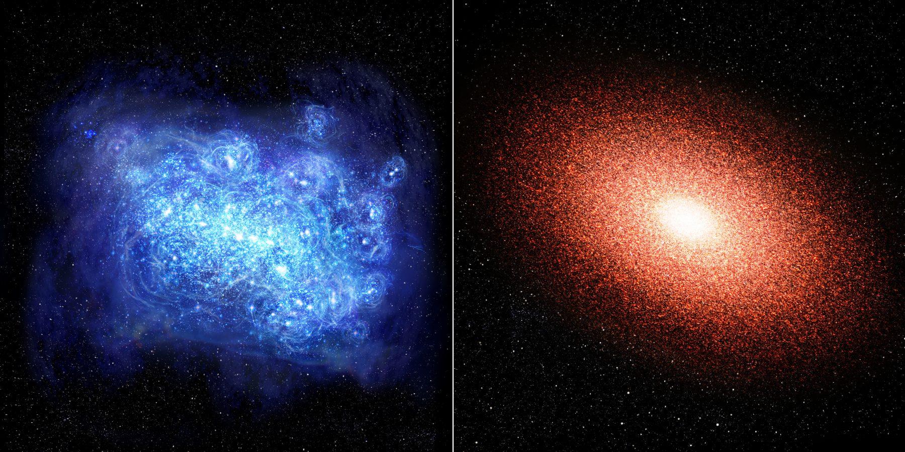 7億歳の老けた銀河