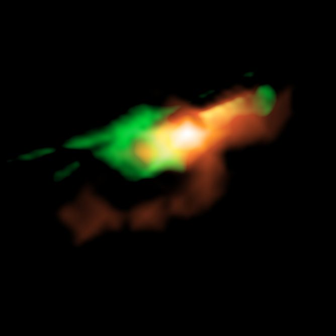 ALMA Resolves Gas Impacted by Young Jets from Supermassive Black Hole