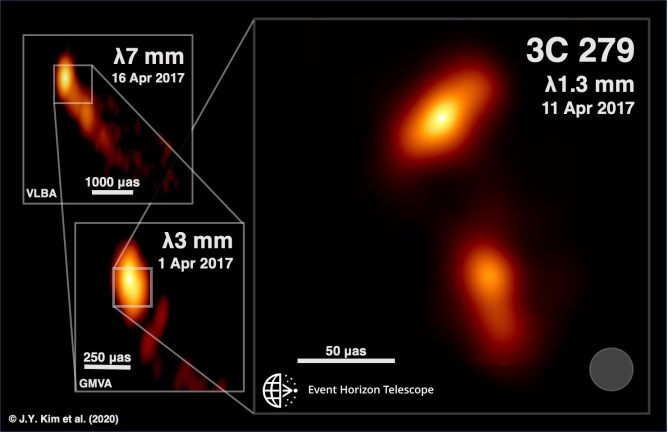Something is Lurking in the Heart of Quasar 3C 279 - Event Horizon Telescope Images of a Black-Hole Powered Jet
