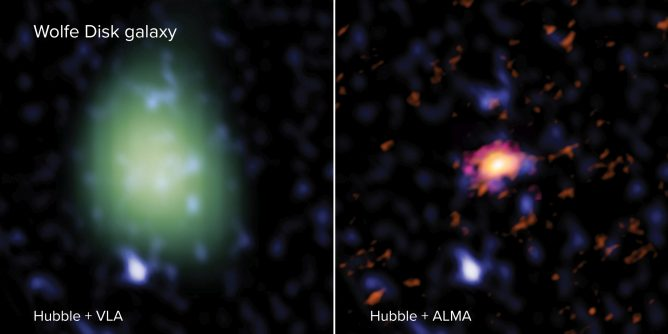Wolfe Disk galaxy side by side