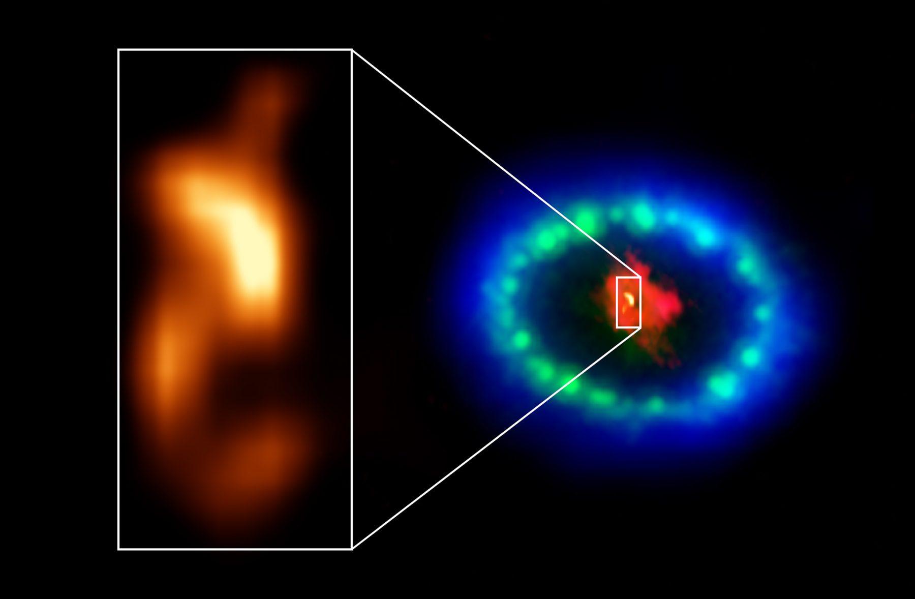 超新星爆発現場に中性子星の兆候