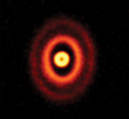 ALMA image of the protoplanetary disk around GW Orionis