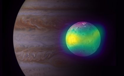 Composite image of Jupiter's moon Io