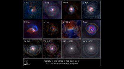 アルマ望遠鏡で撮影した年老いた星たち