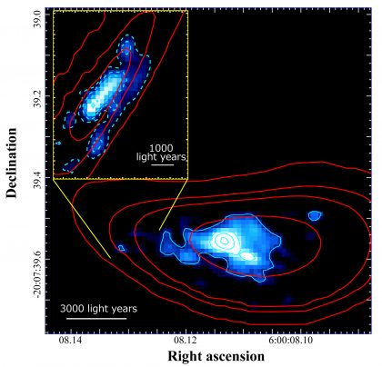 Reconstructed image of the distant galaxy RXCJ0600-z6