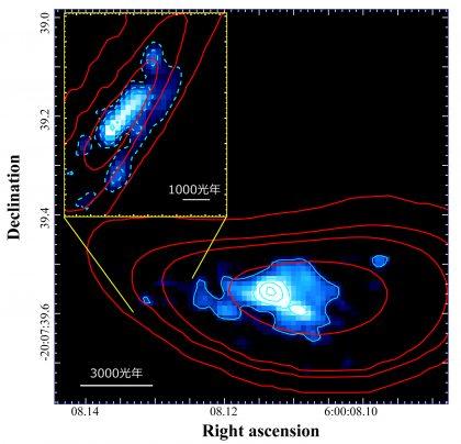 重力レンズ効果で拡大された遠方銀河RXCJ0600-z6