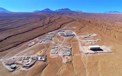 アルマ望遠鏡山麓施設の空撮