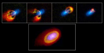 若い星Elias 2-27の原始惑星系円盤(ガスの運動と塵の分布)