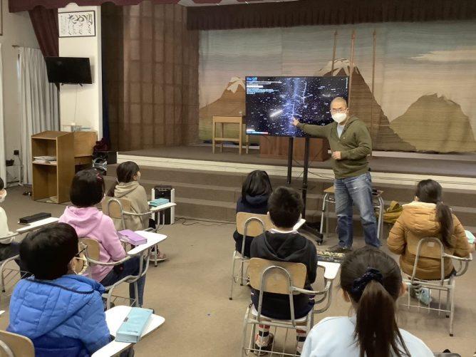 サンチャゴ日本人学校での七夕講話