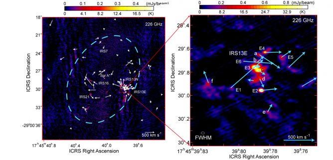 天の川銀河中心ブラックホールを回る星の動きをアルマ望遠鏡で見る