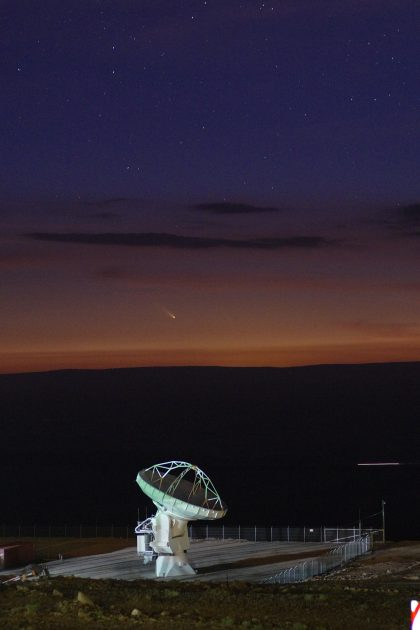 Antenna and Comet PANSTARRS