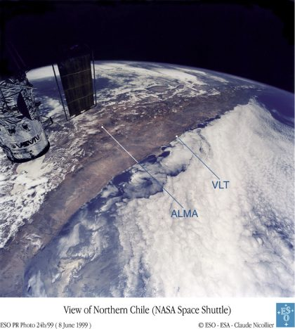 Northern Chile photographed by Space Shuttle