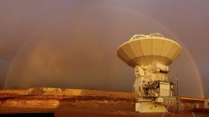 Rainbow over the antenna