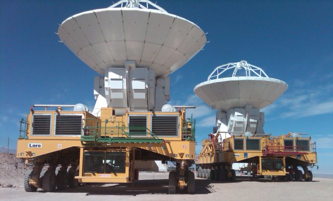 Japanese Antennas on the Two Transporters