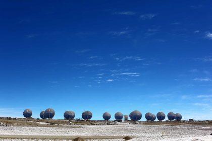 山頂施設の17台のアンテナ