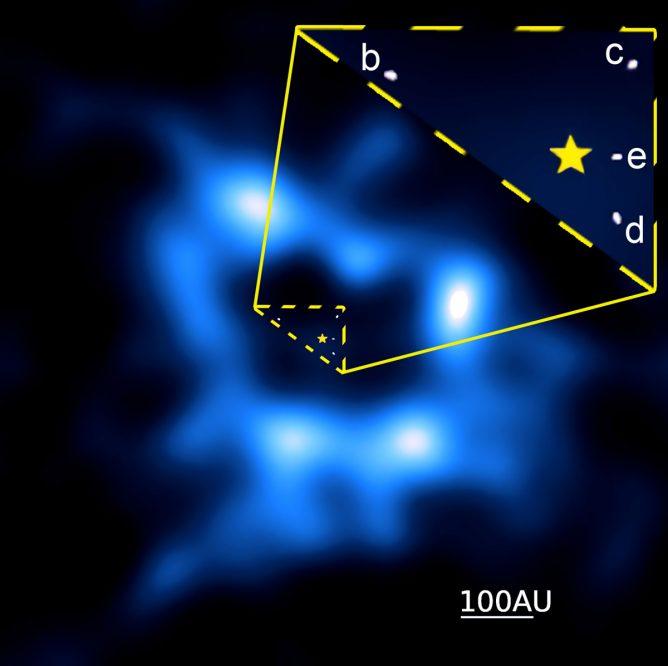 HR8799の周囲の塵の円盤