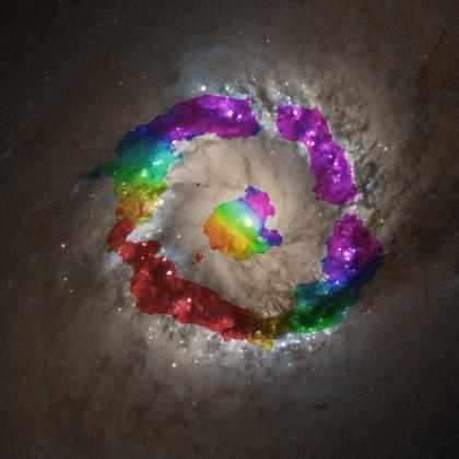 NGC1097のHCNガスの運動