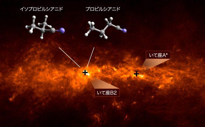 枝分かれした有機分子をアルマ望遠鏡が発見