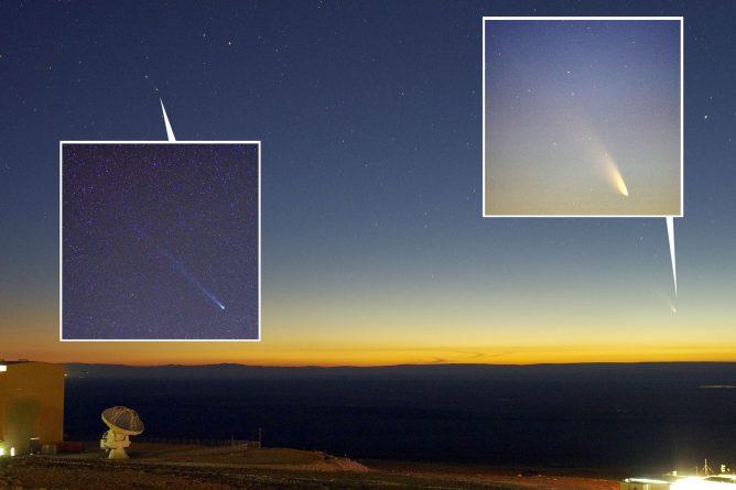 パンスターズ彗星とレモン彗星