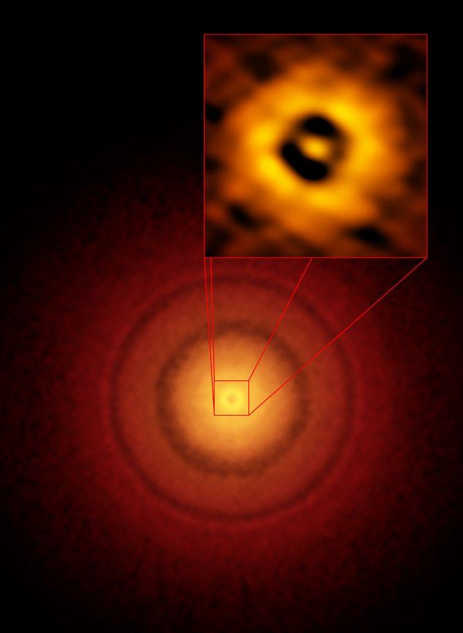地球に似た軌道を持つ惑星の誕生現場を若い星のまわりで初めて観測