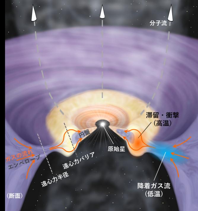 惑星系円盤誕生における角運動量問題解決の糸口—アルマ望遠鏡で直接観測—