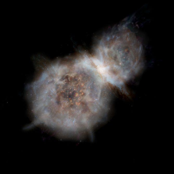 サブミリ波銀河の想像図