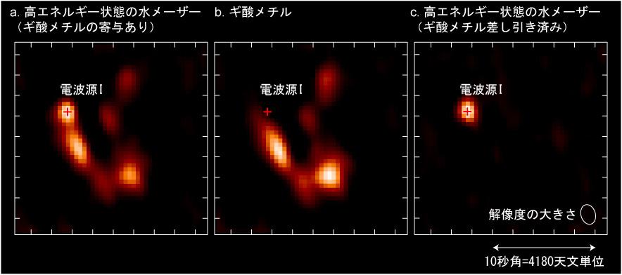 アルマ望遠鏡で観測されたオリオンKLの電波写真