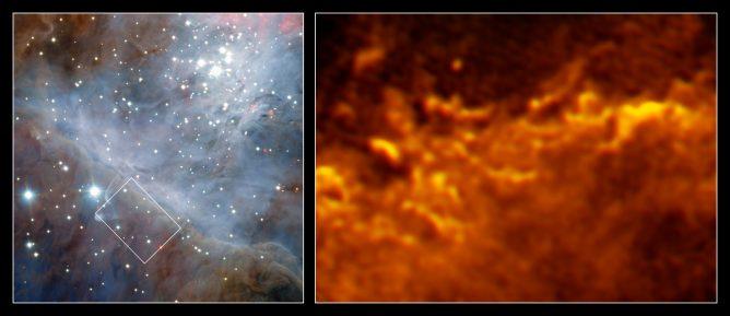 モンスター星の光で進化するオリオン大星雲