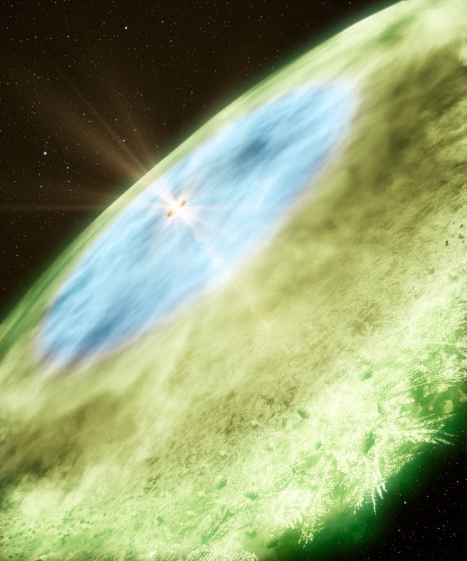 若い星のまわりのスノーラインを直接撮像