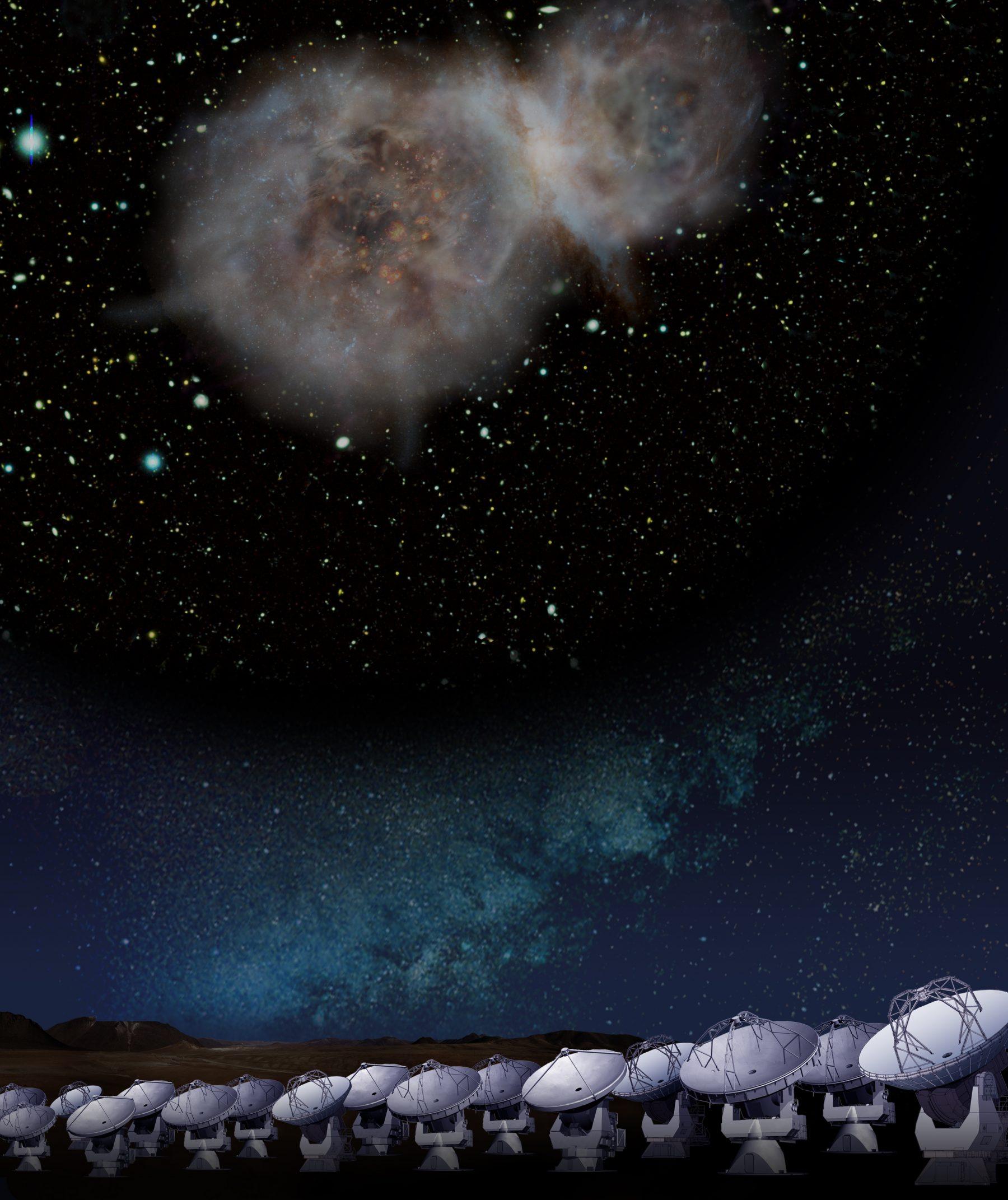 124億光年彼方の銀河の「成分調査」~アルマ望遠鏡で迫る進化途上の銀河の正体~ |概要